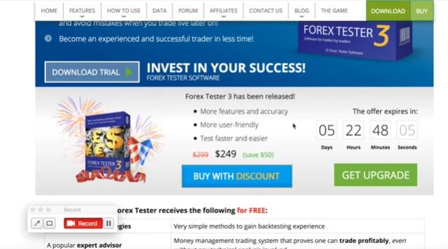 Forex Tester 3 là phần mềm trả phí