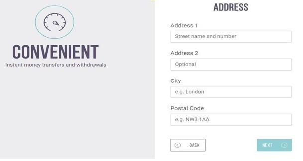 Nhập địa chỉ nơi ở của bạn và mã bưu chính