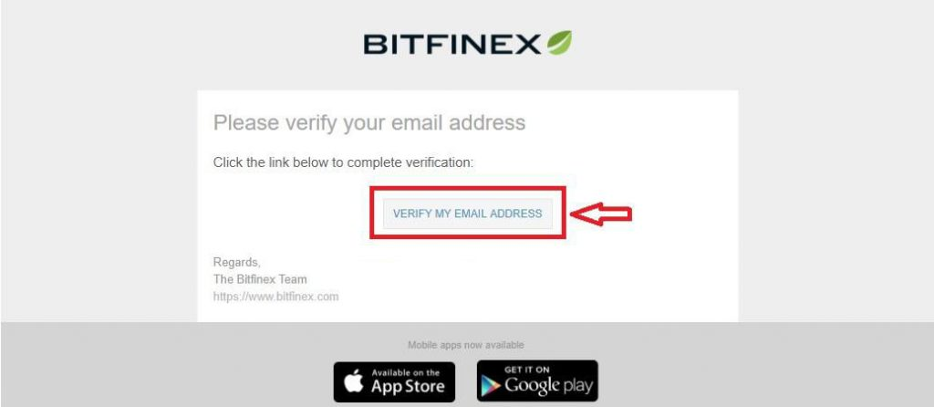 Bitfinex-xac nhan email