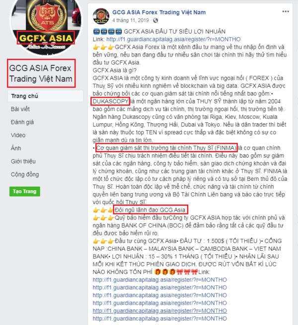 GCFX lừa đảo
