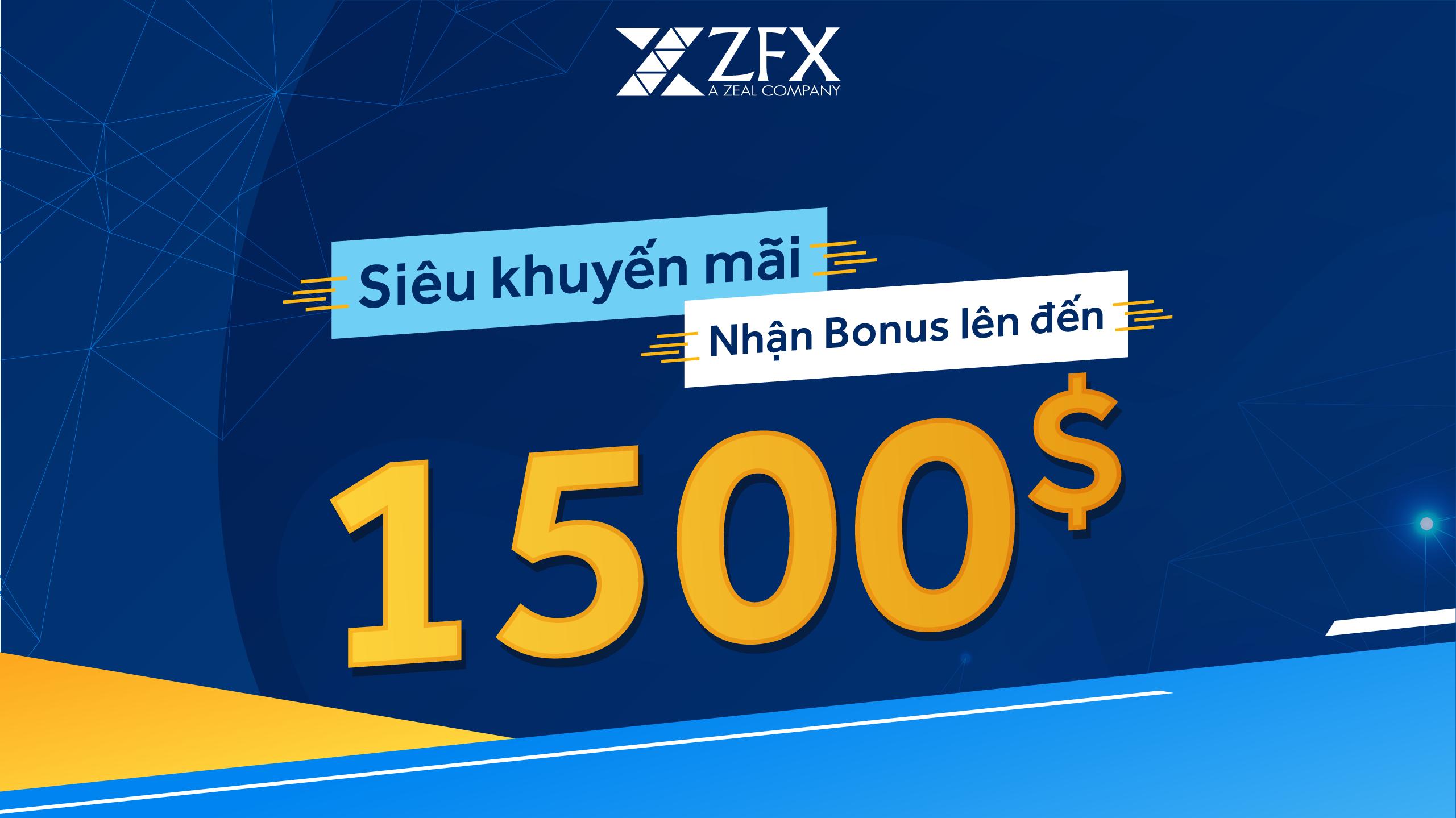 Chương trình Credit Bonus tiền thưởng lên đến 1,500USD