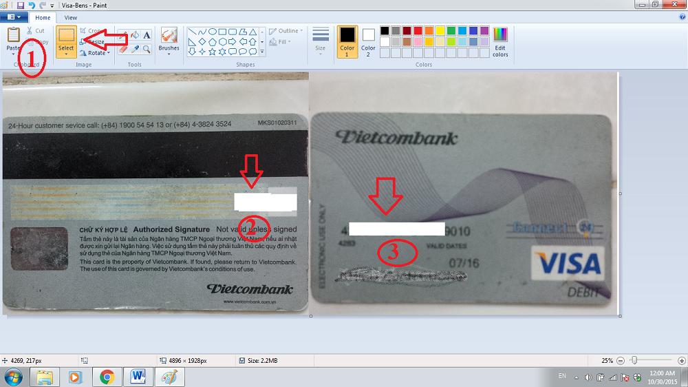 Cách che thông tin thẻ Visa/Master khi nạp tiền vào sàn vàng thế giới