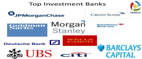 Các ngân hàng đầu tư theo truyền thống không giao dịch với công chúng, tuy nhiên, một số ngân hàng đầu tư lớn như JP Morgan, Bank of America, Citigroup cũng có những ngân hàng thương mại
