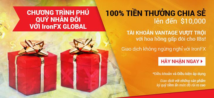 Ironfx khuyến mãi 100% tháng 02/2015